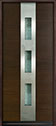 DB-EMD-C2W Mahogany Wood Veneer-Walnut Wood Entry Door