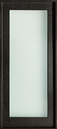 DB-EMD-001W Mahogany Wood Veneer-Espresso  Wood Entry Door - Single