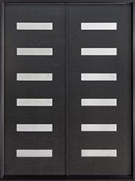 DB-EMD-004-DD CST Mahogany Wood Veneer-Espresso  Wood Front Door