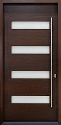 DB-EMD-004PW CST Mahogany-Walnut  Wood Front Door