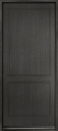 DB-EMD-200W Mahogany Wood Veneer-City Gray  Wood Entry Door - Single