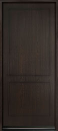 DB-EMD-200W Mahogany Wood Veneer-Espresso  Wood Entry Door - Single