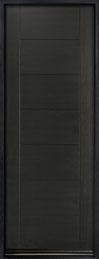 DB-EMD-711T Mahogany Wood Veneer-Espresso  Wood Entry Door - Single