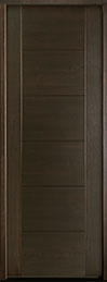 DB-EMD-711T Mahogany Wood Veneer-Walnut  Wood Entry Door - Single