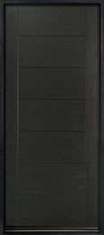 DB-EMD-711W Mahogany Wood Veneer-Espresso  Wood Entry Door - Single
