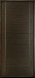 DB-EMD-711W Mahogany Wood Veneer-Walnut  Wood Entry Door - Single