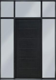 DB-EMD-711T 2SL TR CST Mahogany Wood Veneer-Espresso  Wood Front Door
