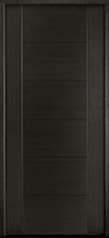 DB-EMD-711 Mahogany Wood Veneer-Espresso  Wood Entry Door - Single