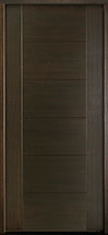 DB-EMD-711 Mahogany Wood Veneer-Walnut  Wood Entry Door - Single