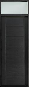Modern Mahogany Wood Veneer Wood Front Door  - GD-EMD-711 TR CST