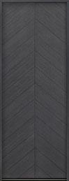 Modern Euro Collection Oak Wood Veneer Wood Front Door  - GD-EMD-715T