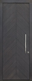 DB-EMD-715W CST Rift Cut White Oak Veneer-Custom Gray  Wood Front Door
