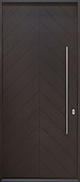 DB-EMD-715W CST Oak Wood Veneer-Espresso  Wood Front Door