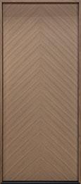 Modern Euro Collection Oak Wood Veneer Wood Front Door  - GD-EMD-715W