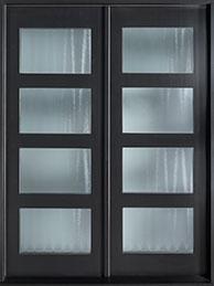 DB-EMD-823-DD CST Mahogany Wood Veneer-Espresso  Wood Front Door