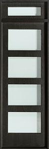Modern Mahogany Wood Veneer Wood Front Door  - GD-EMD-823 TR CST