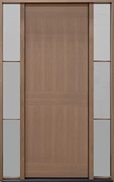 DB-EMD-A4T 2SL Oak Wood Veneer-Light Loft  Wood Front Door
