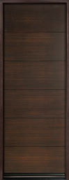 DB-EMD-A4T Mahogany Wood Veneer-Walnut  Wood Entry Door - Single