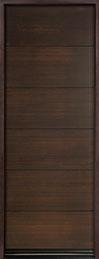 Modern Euro Collection Mahogany Wood Veneer Wood Front Door  - GD-EMD-A4T