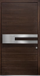DB-EMD-A4W CST Mahogany Wood Veneer-Walnut  Wood Front Door