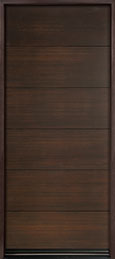 DB-EMD-A4W Mahogany Wood Veneer-Walnut  Wood Entry Door - Single