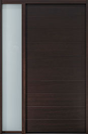 DB-EMD-A4 1SL CST Mahogany Wood Veneer-Walnut  Wood Front Door