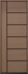 DB-EMD-B1T Rift Cut Oak Wood Veneer-Light-Loft  Wood Entry Door - Single