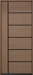 Modern Euro Collection Rift Cut Oak Wood Veneer Wood Front Door  - GD-EMD-B1W