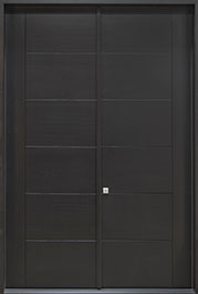 DB-EMD B2T DD CST Mahogany Veneer-Painted RAL 9005  Wood Front Door
