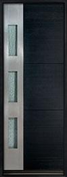 DB-EMD-C1T Mahogany Wood Veneer-Espresso  Wood Entry Door - Single