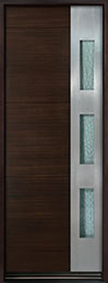 DB-EMD-C1T Mahogany Wood Veneer-Walnut  Wood Entry Door - Single