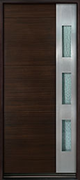 DB-EMD-C1W Mahogany Wood Veneer-Walnut  Wood Entry Door - Single