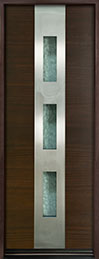 Modern Euro Collection Mahogany Wood Veneer Wood Front Door  - GD-EMD-C2T