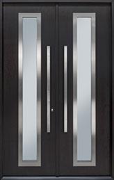 DB-EMD-C3 DD CST Mahogany Wood Veneer-Espresso  Wood Front Door