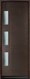 DB-EMD-C3T Mahogany Wood Veneer-Walnut  Wood Entry Door - Single