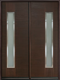 DB-EMD-E4T DD CST Mahogany Wood Veneer-Walnut  Wood Front Door
