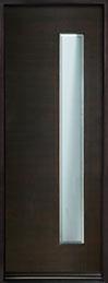 DB-EMD-E4T Mahogany Wood Veneer-Espresso  Wood Entry Door - Single
