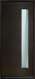 DB-EMD-E4W Mahogany Wood Veneer-Espresso  Wood Entry Door - Single