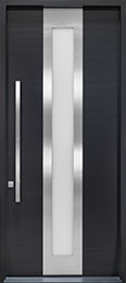 DB-EMD-F4W CST Mahogany Wood Veneer-Espresso  Wood Front Door