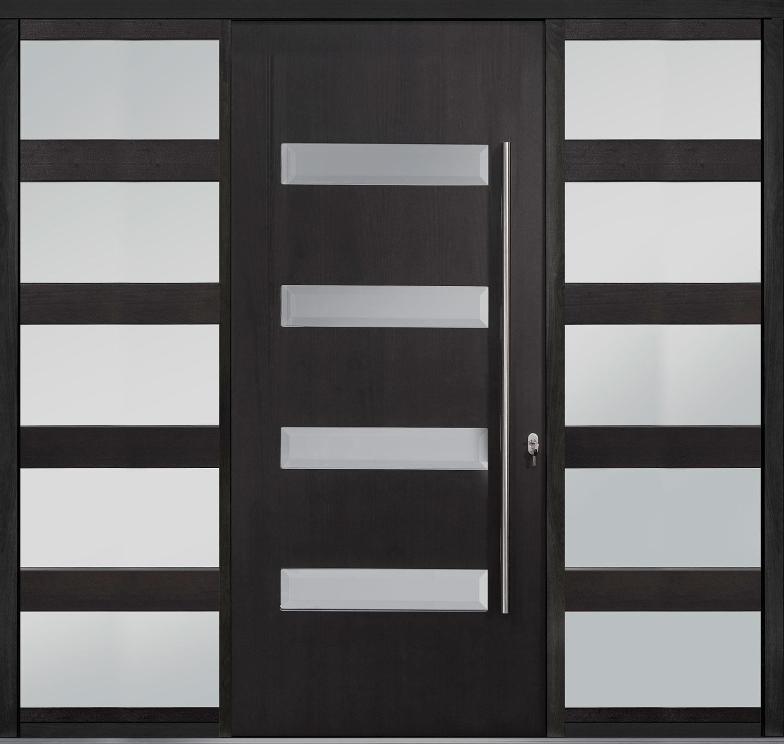 Wood Front Door - Single with 2 Sidelites