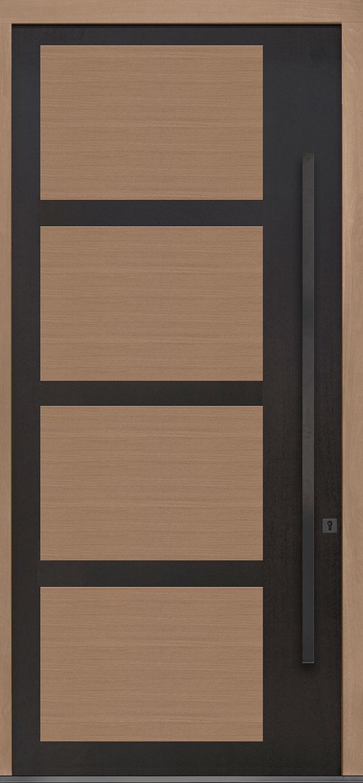 Aluminum-Clad-and-Oak Solid Wood Front Entry Door - Single
