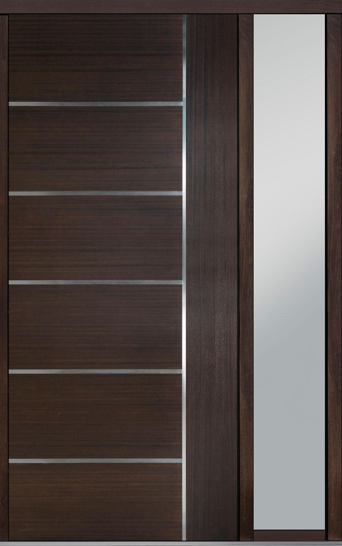 Wood Front Door - Single with 1 Sidelite