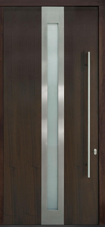 Mahogany-Wood-Veneer Solid Wood Front Entry Door - Single