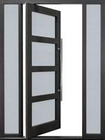 DB-PVT-823-2SL16_Oak-Gray-Oak_CST - Solid Wood Front Door Close-up 0