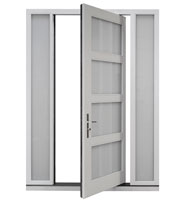 DB-PVT-823-2SL16_Oak-White-Matte-Interior - Solid Wood Front Door Close-up 0