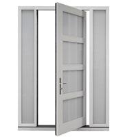 DB-PVT-823-2SL16_Oak-White-Matte-Interior - Solid Wood Front Door Close-up 0
