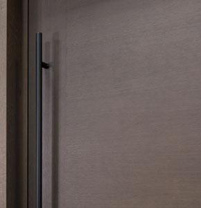 DB-PVT-A1_Oak-Chocolate_CST - Solid Wood Front Door Close-up 0