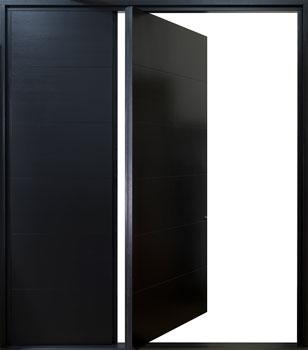 DB-PVT-A4W-?SLS36_Mahogany-Black-SemiGloss_60x108_CST - Solid Wood Front Door Close-up 0