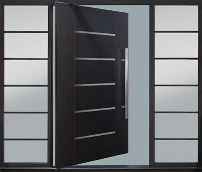 DB-PVT-B5-2SL30B_Mahogany-Espresso_54x96_CST - Solid Wood Front Door Close-up 0