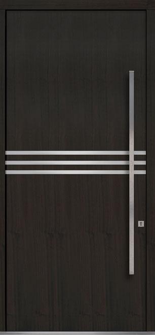 Pivot Mahogany-Wood-Veneer Wood Front Door  - GD-PVT-L2 48x108